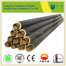 high density polyurethane foam steel pipe insulation for heating pipe