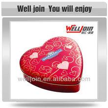 Wholesale heart shape decorative small metal tin box