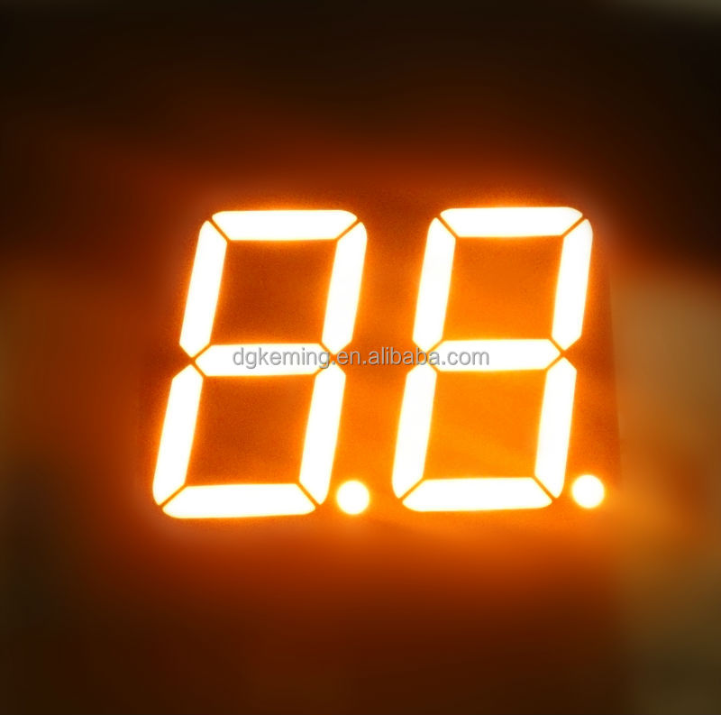 2 digits ultra amber 1.5 inch 7 segment led numeric display