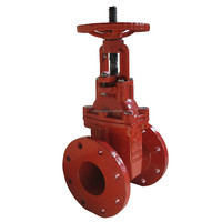 Worm Gear Ductile Iron Flange Type Rising Stem Gate Valve suppiler China