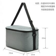 600D polyester cheap promotional ice aluminium foil cooler bag