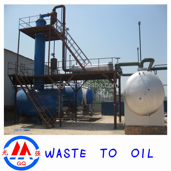 2015 lastest waste engine oil to diesel oil distillation for Waste motor oil to diesel