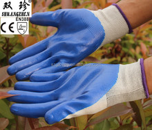 Protective 13g polyester Nitrile Gloves With low Price