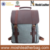 Candy Blue Canvas Backpack with Leather 1820