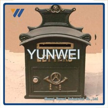 Customized Chinese Good Quality Cast Iron Or Cast Aluminum Mailbox For Sale