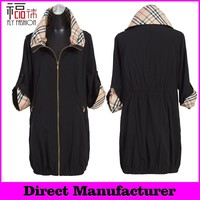 F310-BK# womens coats sale spring long jackets for middle age women