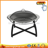 Stainless Steel Garden Treasures Fire Pit With Decorative Steel Base