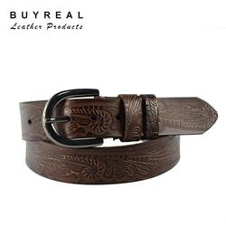 Hot Sale Casual Pattern Split Leather Belt