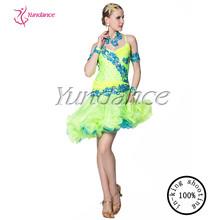 2014 High Quality Latin Competition sexy Girls Latin Dance Dress L-12502