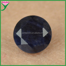 Direct Manufacturer 8mm loose round faceted cut natural sharp-bottomed black sapphire beads