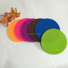 2015 Factory price circle shape skid resistance silicone pan baking mat set for tableware