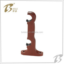 decor pvc or plastic double bracket for curtain rod