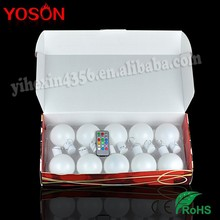 12 Colors Free Changing Wholesale Clear Plastic Christmas Ball Ornaments