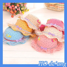 HOGIFT Factory Outlet various baby straw hat, flouncing children straw hat , outdoor brim sun hat