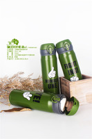 High quality with flip lid PP grade sport water bottle ss vacuum flask and vacuum bottle 500ML