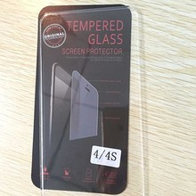 New Front Guard Protective Film Tempered Glass Screen Protector For iPhone 4s 4 4G With Retail Package