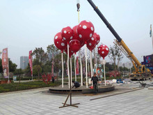Large Modern Arts Abstract Stainless steel Balloon Sculpture for Urban decoration