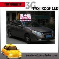 Sunrise alibaba hot sale hd double sided wireless wifi 3G P5 advertising programmable car top sign/led taxi sign