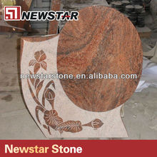 Newstar granite tombstone design with flowers