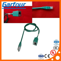 RJ45 comu comunication cable harness with shield/RG45 male to famel