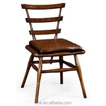 RCH-4170 Dark Oak Side Chair With Leather Cushion