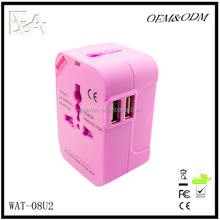 International travel adapter,dual USB travel adapter Samsung,universal travel adapter plug