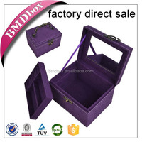 new products 2015 hot wooden stand up jewelry box with key lock
