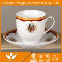 China supplier wholesale customized carmani ceramic mug porcelain bone china artist china