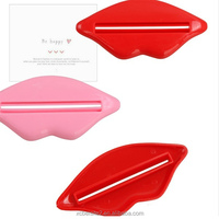 Hot wholesale creative lip shapes multipurpose plastic tube toothpaste squeezer