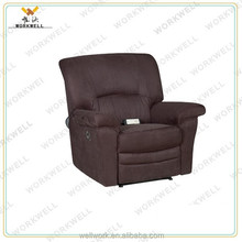 WorkWell most popular pu leather luxury recliner sofa Kw-Fu33
