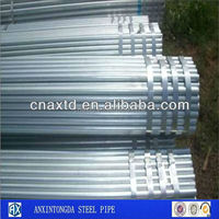 x tube 22 galvanized steel pipe for fabric rolling tubes