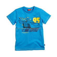"Children's tee shirt printed pattern wrote ""95 I AM SPEED"""