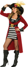 Girls Sexy Pirate Queen Fancy Dress Costume Outfit Uniform Lingerie Hen Party BWG3052