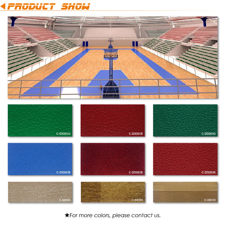 Indoor Wood PVC Sports Floors Basketball Flooring