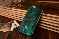 Green Shiny Finish Crocodile Skin print case, Leather PU, suitable for many models