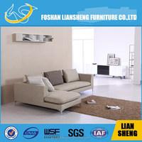 Small modern fabric corner sofa, divan living room furniture