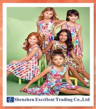 new Arrival summer girl dress cat&dog print baby girl dress children clothing children dress 2-6years
