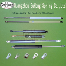 lift gas springs with metal eye/flat head end fitting