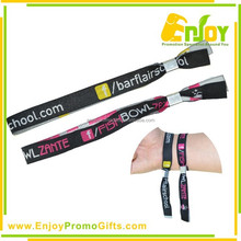 Promotional Eco-friendly Polyester Woven Fabric Wristband/Woven Bracelet