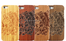Luxurious Style Wood Bamboo Case For Iphone6 With Vivid Primitive Picture