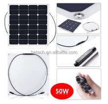 New energy china pv supplier semi/mini flexible solar panel 50wp for sale for bosts for Golf