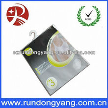 Top quality zipper plastic underwear packing for bag