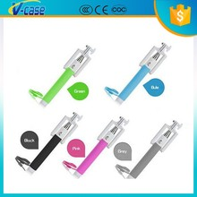 Gift for christmas promotion 2015 cheapest cable wired selfie stick