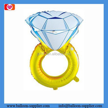 Custom balloons Big diamond ring shaped aluminum foill balloon for valentine's day gift