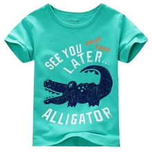 MS64449C children summer top quality kids famous brand tshirt