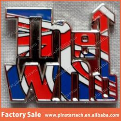 Custom Wholesale National UK Flag Feature Metal Lapel Pin Badge Making