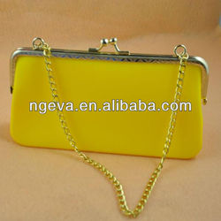 Yellow Color Silicone Recycled Rubber Handbags