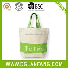 Cartoon design natural canvas cotton shopping bag
