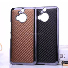 Leather with metallic pc mobile phone case cover for HTC ONE M9