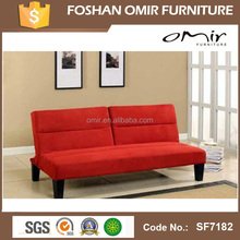 SF7182 bedroom accessories fabric sofa with chrome feet